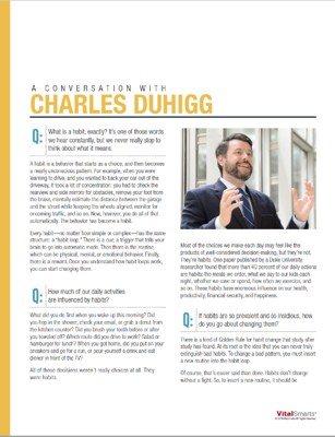 A conversation with Charles Duhigg