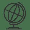 Ikon_sort_globus